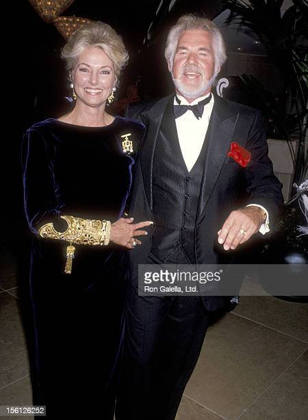 Musician Kenny Rogers and wife Marianne Gordon attend the 1990 Carousel of Hope Ball on October 26, 1990 at Beverly Hilton Hotel in Beverly Hills,...