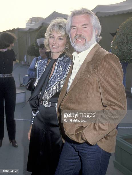 Musician Kenny Rogers and wife Marianne Gordon attend the 30th Annual SHARE Boomtown Party on May 7 1983 at Universal Amphitheatre in Universal City...