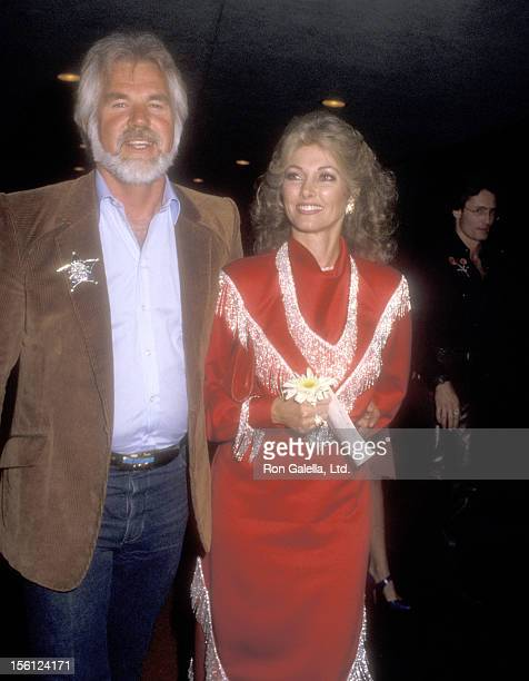 Musician Kenny Rogers and wife Marianne Gordon attend the 32nd Annual SHARE Boomtown Party on May 19 1985 at Santa Monica Civic Auditorium in Santa...