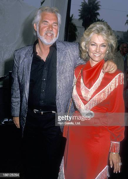 Musician Kenny Rogers and wife Marianne Gordon attend the 35th Annual SHARE Boomtown Party on May 21 1988 at Santa Monica Civic Auditorium in Santa...