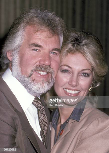 Musician Kenny Rogers and wife Marianne Gordon attend the First Annual World Hunger Media Awards on November 23 1982 at United Nations Plaza Hotel in...