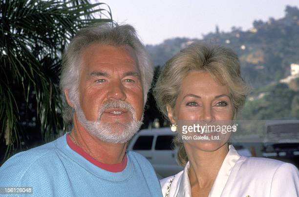 Musician Kenny Rogers and wife Marianne Gordon attend the NBC Fall TCA Press Tour on July 29 1991 at Universal Hilton Hotel in Universal City...