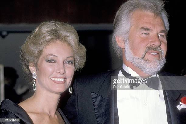 Musician Kenny Rogers and wife Marianne Gordon attend The Scott Newman Center Benefit Gala on November 11 1983 at Century Plaza Hotel in Los Angeles...