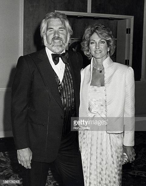 Musician Kenny Rogers and wife Marianne Gordon attending 'A Gala Evening in Monaco Benefit' on April 24, 1981 at the Beverly Hilton Hotel in Beverly...