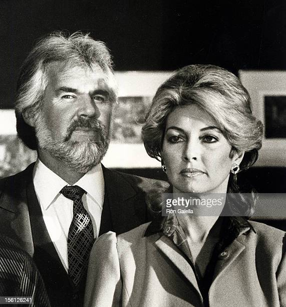 Musician Kenny Rogers and wife Marianne Gordon attending First Annual World Hunger Media Awards on November 23, 1982 at the United Nations Plaza...