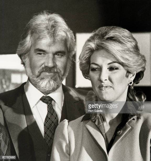 Musician Kenny Rogers and wife Marianne Gordon attending First Annual World Hunger Media Awards on November 23 1982 at the United Nations Plaza Hotel...
