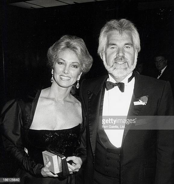 Musician Kenny Rogers and wife Marianne Gordon attending 'Scott Newman Foundation Awards Benefit' on November 11 1983 at the Century Plaza Hotel in...