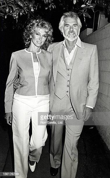 Musician Kenny Rogers and wife Marianne Gordon being photographed on August 27, 1983 at Spago Restaurant in West Hollywood, California.