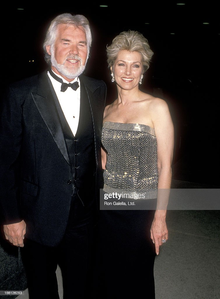 Musician Kenny Rogers and wife Marianne Gordon on February ...