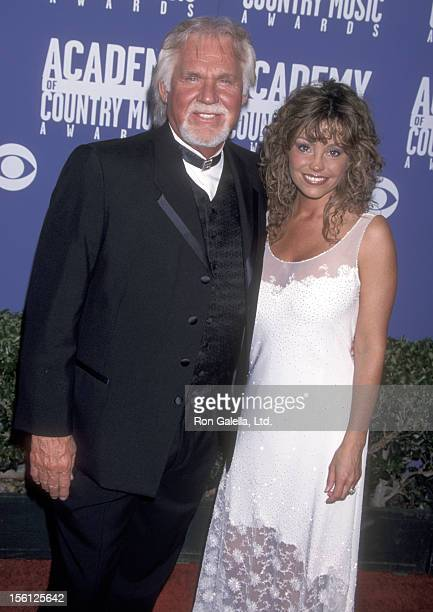 Musician Kenny Rogers and wife Wanda Miller attend the 36th Annual Academy of Country Music Awards on May 9 2001 at Universal Amphitheatre in...