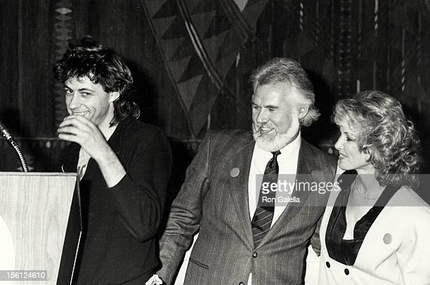 Musician Kenny Rogers, wife Marianne Gordon and Bob Geldof attending Fourth Annual World Hunger Media Awards on November 26, 1985 at the United...