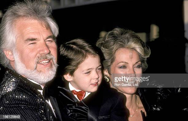 Musician Kenny Rogers wife Marianne Gordon and son Christopher Rogers attend the 12th Annual People's Choice Awards on March 11 1986 at Santa Monica...