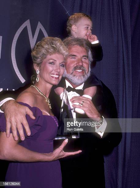 Musician Kenny Rogers wife Marianne Gordon and son Christopher Rogers attend the 10th Annual American Music Awards on January 17 1983 at Shrine...
