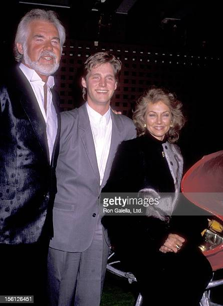 Musician Kenny Rogers wife Marianne Gordon and son Kenny Rogers Jr attend the KickOff Celebration of Kenny Rogers Christmas Tour on November 25 1989...