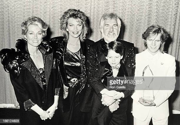 Musician Kenny Rogers wife Marianne Gordon daughter Carol Rogers and sons Kenny Rogers Jr and Christopher Rogers attending 12th Annual People's...