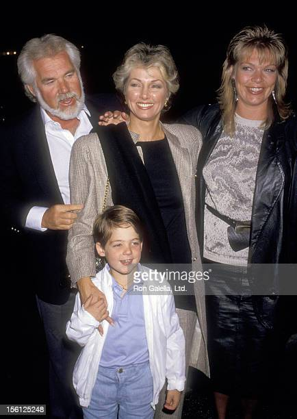 Musician Kenny Rogers wife Marianne Gordon son Christopher Rogers and daughter Carole Rogers attend the David Copperfield Magic Show on May 15 1987...