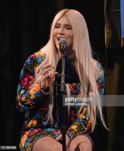 Musician Kesha performs onstage at the Country Music Hall of Fame and Museum's 'All for the Hall' Benefit on February 12 2018 in New York City