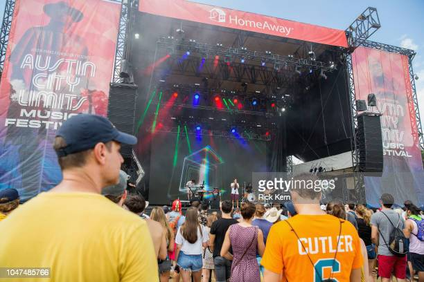 Musician Ketil Jansen and singer Ulrik Denizou Lund of Lemaitre perform onstage during weekend one day three of Austin City Limits Music Festival at...