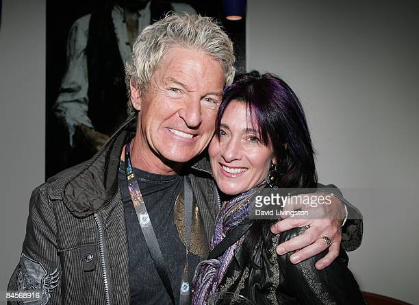 Musician Kevin Cronin and his wife Lisa attend the 2009 Pollstar Awards at the Nokia Theatre on January 30 2009 in Los Angeles California