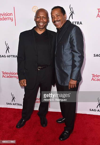 Musician Kevin Eubanks and actor Obba Babatunde' attend a cocktail party celebrating dynamic and diverse nominees for the 67th Emmy Awards hosted by...