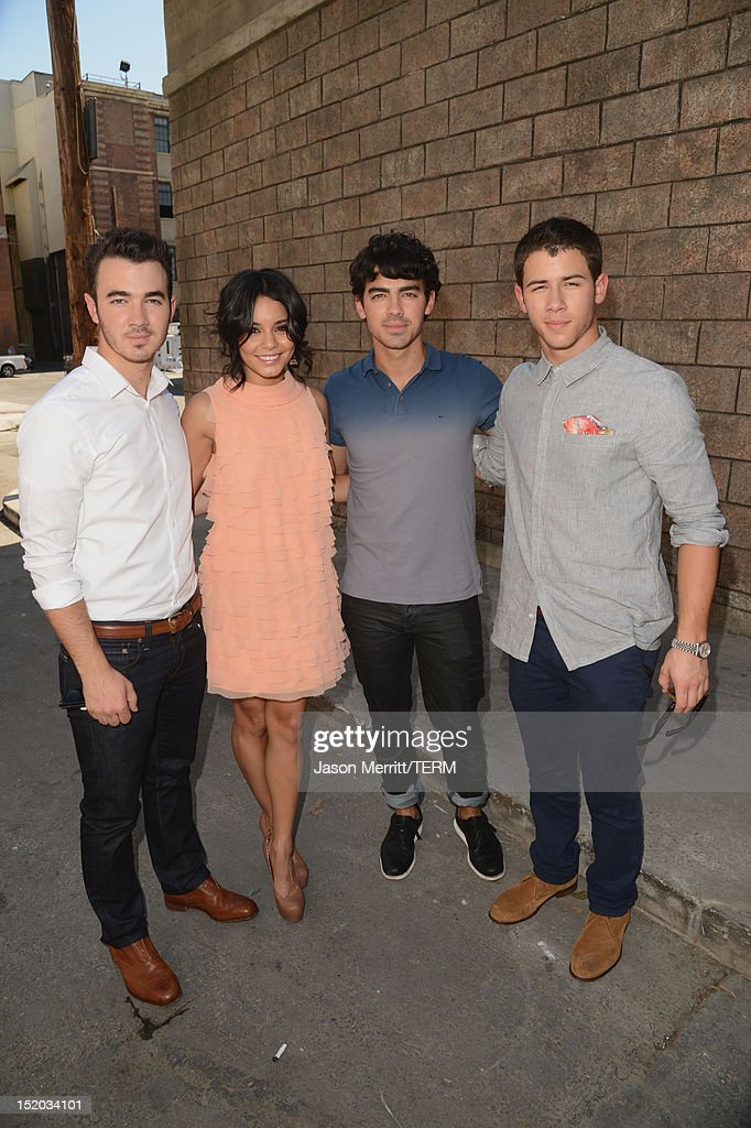 Musician Kevin Jonas, actress Vanessa Hudgens and musicians Joe Jonas and Nick Jonas attend Variety's Power of Youth presented by Cartoon Network held at Paramount Studios on September 15, 2012 in Hollywood, California.