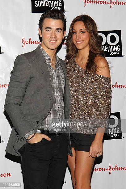 Musician Kevin Jonas and Danielle Deleasa attend the 2011 Do Something Awards kickoff event at BB King Blues Club Grill on May 23 2011 in New York...
