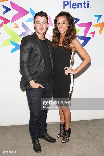 Musician Kevin Jonas and Danielle Jonas attend the Launch of Plenti at Skylight Modern on May 6 2015 in New York City