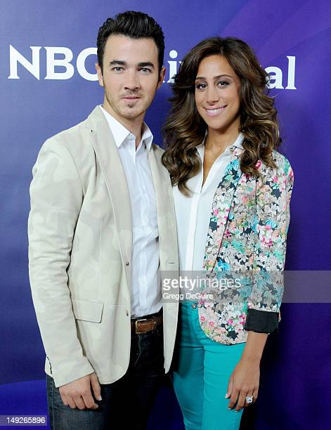 Musician Kevin Jonas and wife Danielle Jonas arrive at the 2012 NBC Universal summer TCA press tour day 2 at The Beverly Hilton Hotel on July 25 2012...