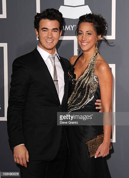 Musician Kevin Jonas and wife Danielle Jonas arrive at the 52nd Annual GRAMMY Awards held at Staples Center on January 31 2010 in Los Angeles...