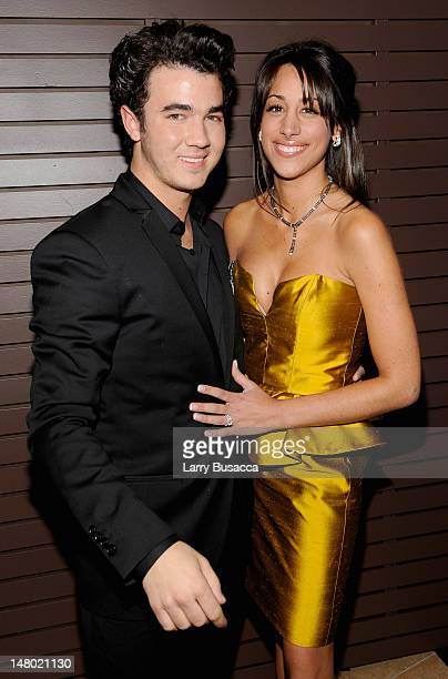 Musician Kevin Jonas and wife Danielle Jonas arrive at the 52nd Annual GRAMMY Awards Salute To Icons Honoring Doug Morris held at The Beverly Hilton...
