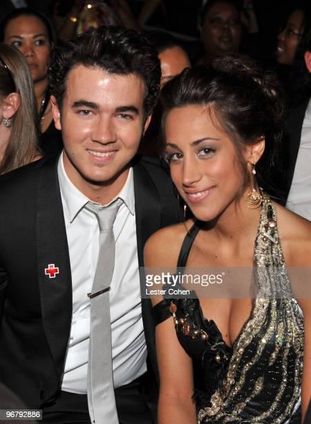 Musician Kevin Jonas and wife Danielle Jonas attend the 52nd Annual GRAMMY Awards held at Staples Center on January 31 2010 in Los Angeles California