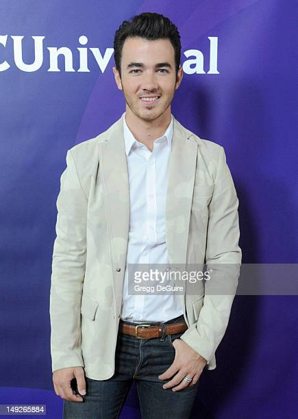 Musician Kevin Jonas arrives at the 2012 NBC Universal summer TCA press tour day 2 at The Beverly Hilton Hotel on July 25, 2012 in Beverly Hills,...