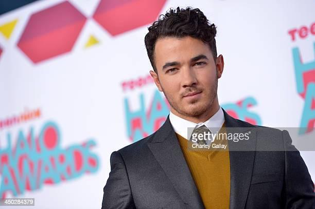 Musician Kevin Jonas arrives at the 5th Annual TeenNick HALO Awards at Hollywood Palladium on November 17 2013 in Hollywood California