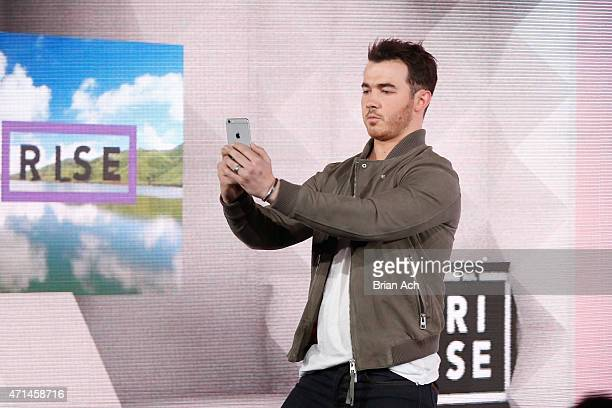 Musician Kevin Jonas of the Jonas Brothers appears on stage during the AOL 2015 Newfront on April 28 2015 in New York City