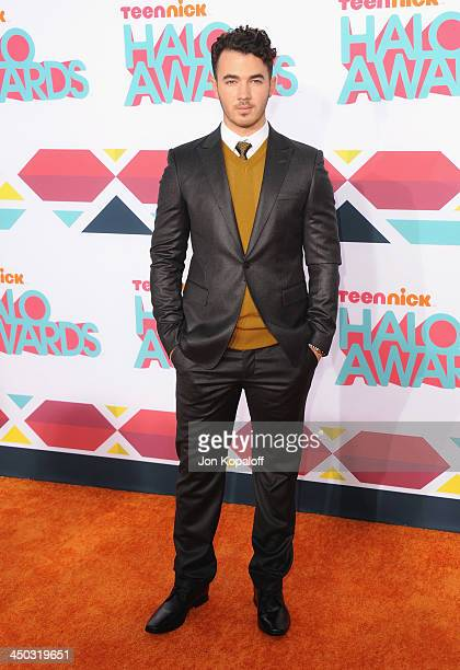 Musician Kevin Jonas of The Jonas Brothers arrives at the 2013 TeenNick HALO Awards at Hollywood Palladium on November 17 2013 in Hollywood California