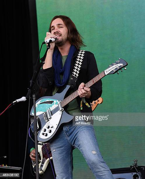 Musician Kevin Parker of Tame Impala performs at the Lands End Stage during day 2 of the 2015 Outside Lands Music And Arts Festival at Golden Gate...