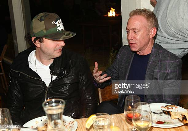 Musician Kevin Rudolf and President of Zomba Music Publishing David Mantel attend the Friends N Family Dinner at The Jack Warner Estate on February...