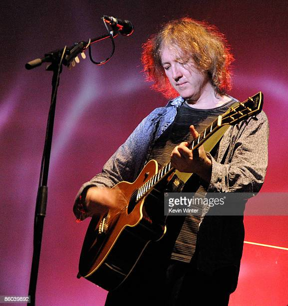Musician Kevin Shields of My Bloody Valentine performs during day three of the Coachella Valley Music Arts Festival 2009 held at the Empire Polo Club...