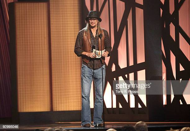 Musician Kid Rock attends the 43rd Annual CMA Awards at the Sommet Center on November 11 2009 in Nashville Tennessee