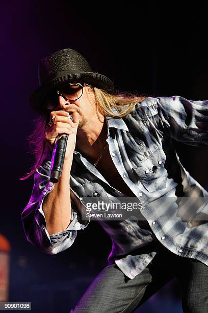 Musician Kid Rock performs in The Pearl concert theater at the Palms Casino Resort on September 17 2009 in Las Vegas Nevada