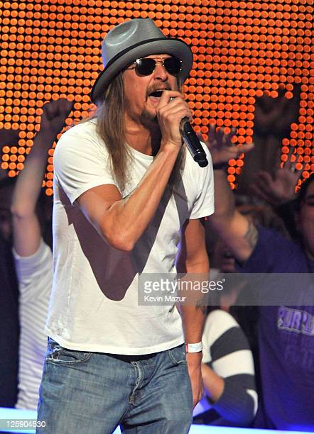 Musician Kid Rock performs onstage during VH1's Pepsi Super Bowl Fan Jam at Verizon Theater on February 3 2011 in Grand Prairie Texas