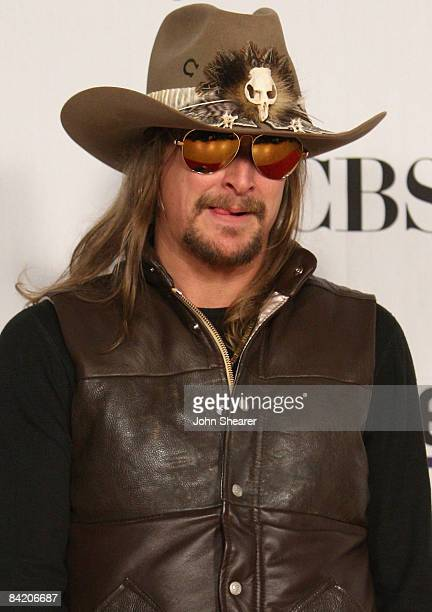 Musician Kid Rock poses in the press room at the 35th Annual People s  Choice Awards held 2344e87b222