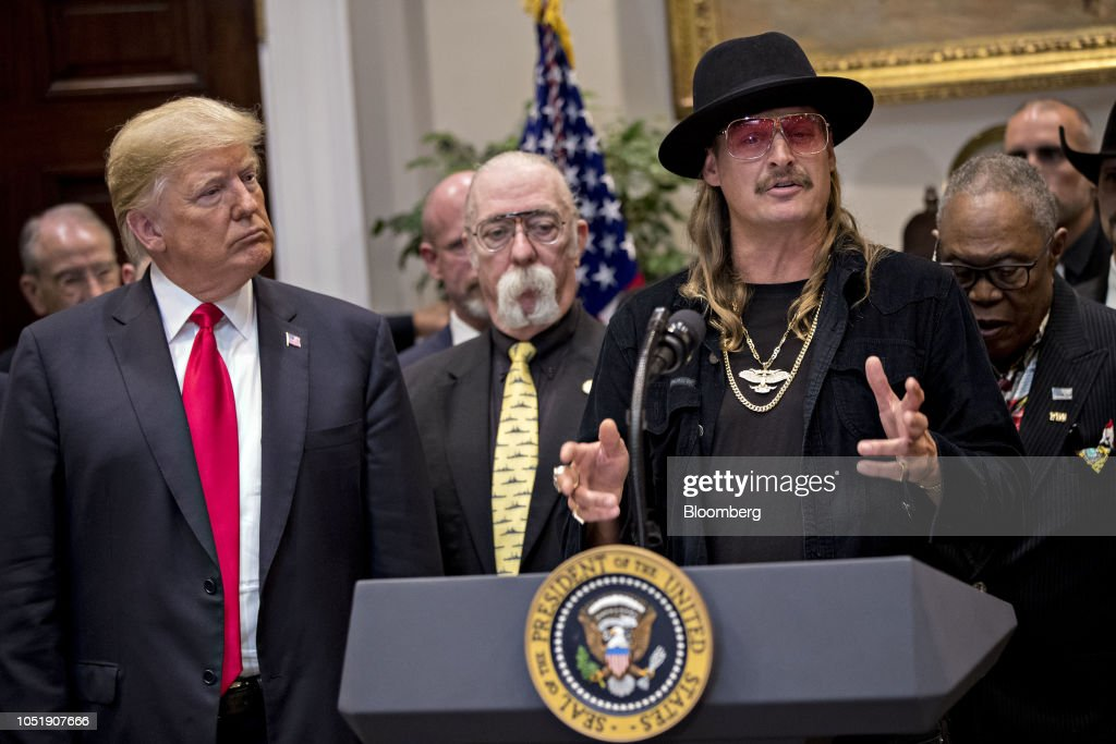 President Trump Participates In Signing Ceremony For H.R. 1551, The Orrin G. Hatch-Bob Goodlatte Music Modernization Act : News Photo