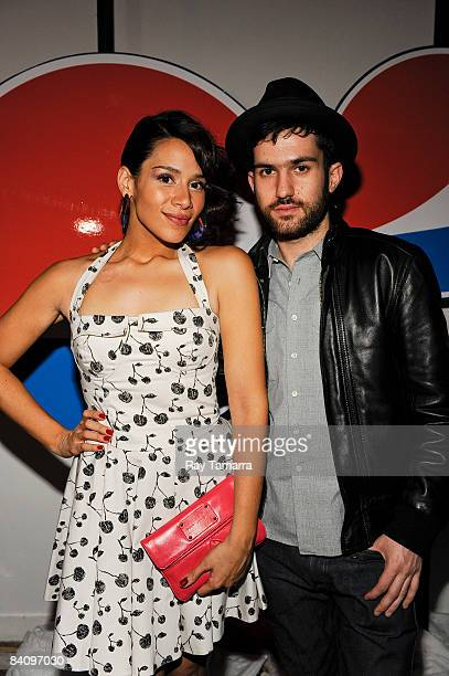 Musician Kid Sister and Fool�s Gold Records founder DJ ATrak attend the Pepsi Proper Fool's Gold Holiday Party at Twelve21 on December 19 2008 in New...