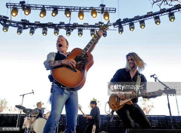 Musician Kiefer Sutherland performs on the Palomino stage during day 3 of 2017 Stagecoach California's Country Music Festival at the Empire Polo Club...