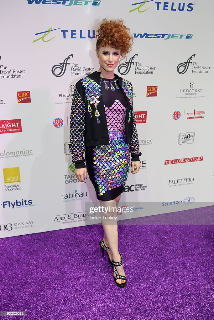 Musician Kiesza arrives at the David Foster Foundation Miracle gala and concert at Mattamy Athletic Centre on September 26, 2015 in Toronto, Canada.
