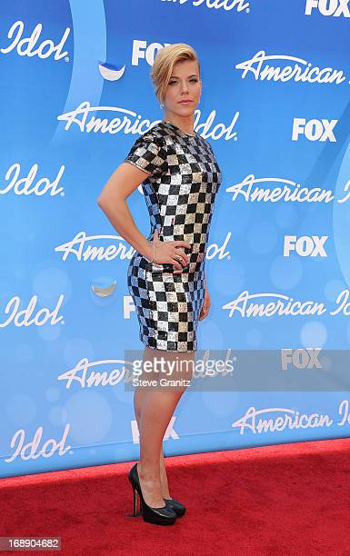 Musician Kimberly Perry of The Band Perry arrives at FOX's 'American Idol' Grand Finale at Nokia Theatre LA Live on May 16 2013 in Los Angeles...