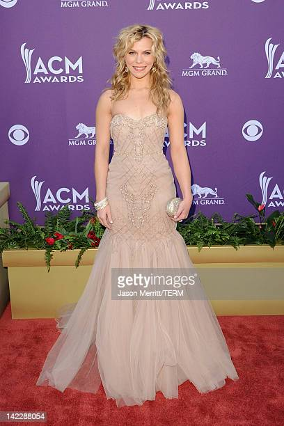 Musician Kimberly Perry of The Band Perry arrives at the 47th Annual Academy Of Country Music Awards held at the MGM Grand Garden Arena on April 1...