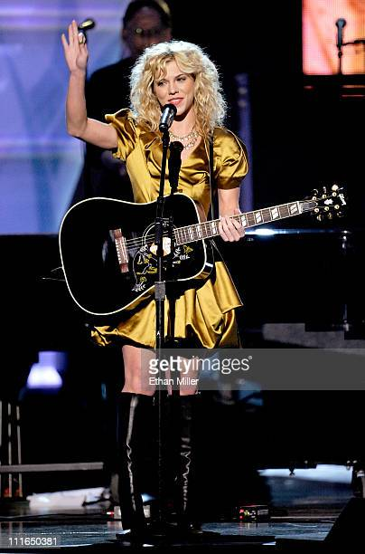 Musician Kimberly Perry of The Band Perry performs onstage during ACM Presents Girls' Night Out Superstar Women of Country concert held at the MGM...