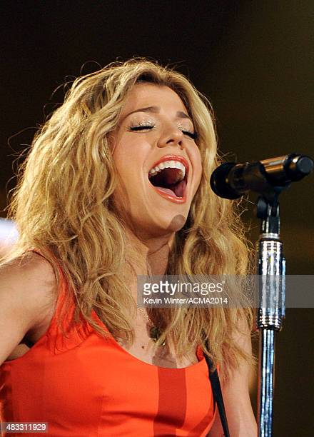 Musician Kimberly Perry of The Band Perry performs onstage during ACM Presents An AllStar Salute To The Troops at the MGM Grand Garden Arena on April...